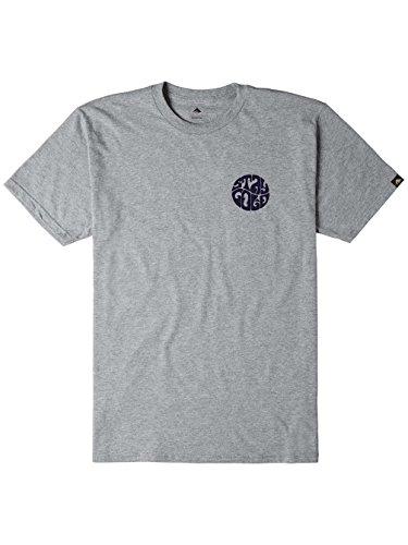 Herren T-Shirt Emerica Stay Gold Circle T-Shirt Grey/Heather