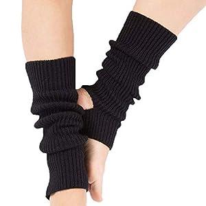 oobest Lange Knit Dance Sports Beinlinge Boot Manschetten Socken Kniehohe Länge häkeln für Dance Yoga