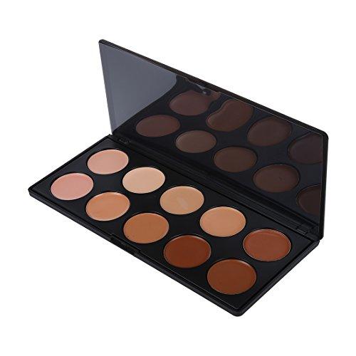 TOOGOO(R) Palette Creme de Camouflage Poudre Correcteur 10 Couleurs Maquillage