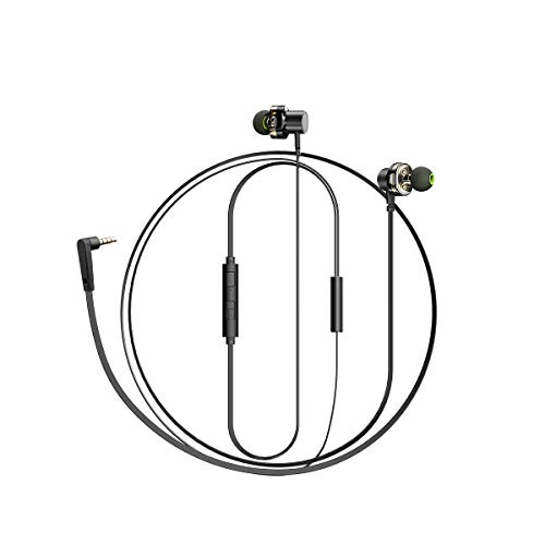 GAX Écouteurs in-Ear Double-Action Casque De Téléphone Mobile Bass Magnétique Iphone, Ipad, iOS, Smartphone Android Niveau De Jeu Portable Tout Approprié Le Dispositif D'interface De 3.5 Mm