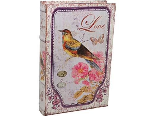 Vidal Regalos Caja Fuerte Forma Libro Pajaro Love 24 cm