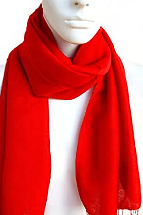 Kim: Schal für Damen und Herren in rot aus Seide