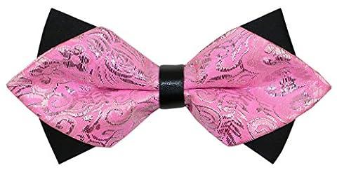 OCIA® Fliege Schleife Schlips Anzug Hemd Hochzeit Business Fasching Bunt Verstellbar Gebunden Herren Muster Mode Krawatte - M307 Original