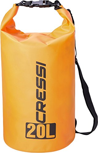 Cressi dry bag sacca/zaino stagna per attività sportive, unisex adulto, arancio, 10 l