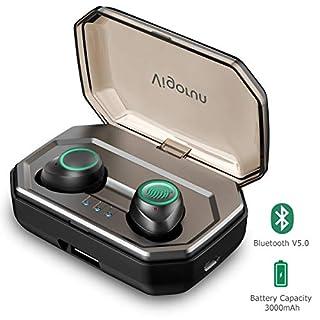 Bluetooth Kopfhörer in Ear, Vigorun Bluetooth 5.0 Kabellos Sportkopfhörer (3000mAh, 120h Spielzeit, IPX6 Wasserdicht, Auto-Pairing, Siri aktivieren, CVC 8.0) Mini Ohrhörer für iOS und Android