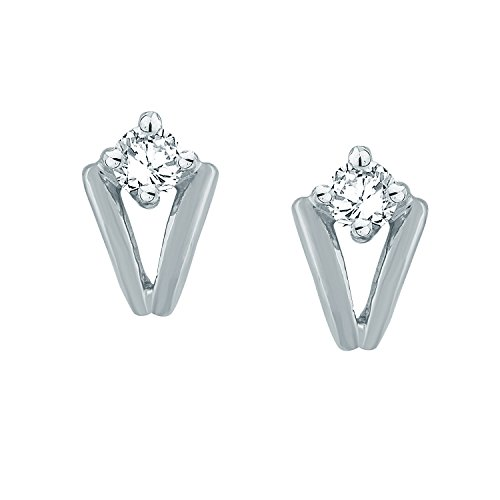Giantti Diamant pour femme pendantes Boucles d'oreilles (0,13CT, VS Clarté, Gh-colour)