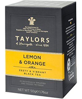 2 x 20 Individually Wrapped and Tagged Tea Bags Taylors Lemon & Orange Thé Noir