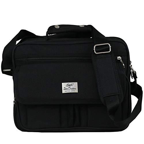 Schultertasche Citybag Flugbegleiter Ausweistasche Umhängetasche Business Messenger Bag Tasche Black (Modell 6)