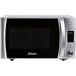 Candy Cmxg 25Dcs - Microondas con grill y cook in app, 25 L, 40 programas automáticos, 1450 W, color silver