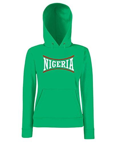 T-Shirtshock - Sweatshirt a capuche Femme WC0135 NIGERIA Vert