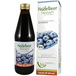 100% BIO-Heidelbeersaft 330ml Glasflasche