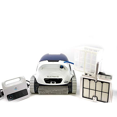DOLPHIN Blue Maxi 40i - Robot automático limpiafondos para Piscinas (Fondo y Paredes) Sistema de navegación