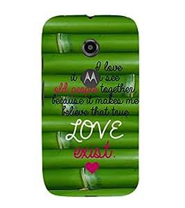EPICCASE love exist Mobile Back Case Cover For Moto E 2nd Generation (Designer Case)