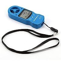 JohnJohnsen TL-300 Mini anemómetro Multiusos Anemómetro Digital LCD Velocidad del Viento Temperatura Humedad Medidor con termómetro higrómetro (Plata)
