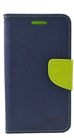 Kabir Mercury Diary Flip Cover for Micromax Canvas 2 Colours A120 - Blue and Green