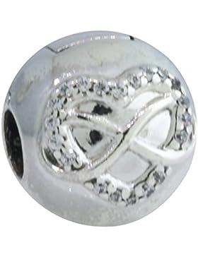 Pandora Damen-Bead 925 Silber Zirkonia weiß-791947CZ
