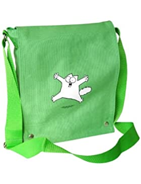 Simon´s Cat Tote Bag Grün mit 'Spring-Katze'