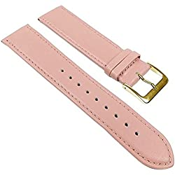 Miami Watch Band kalf nappa Strap pink 22596G, width:11mm