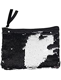 Tinksky Sparkly bolso de embrague de lentejuelas Lady Party Evening bolso de embrague bolsa monedero, regalo para las mujeres (negro)