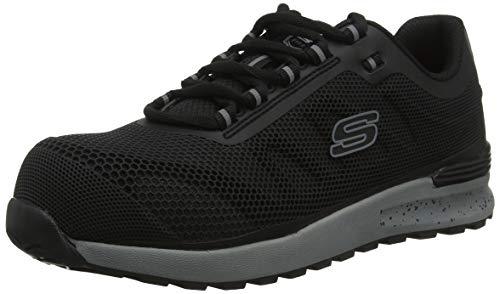Skechers BULKLIN LYNDALE, Men Low-Top Trainers, Black (Black Blk), 8 UK (42 EU)