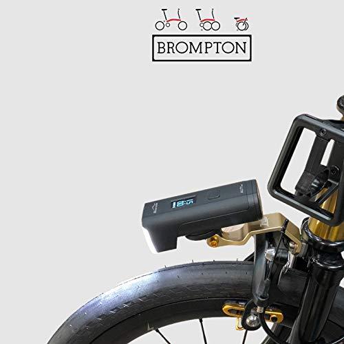 Trigo Bicicletta Torcia da Fronte Supporto per Brompton Cateye GOPRO Action Camera Supporto Oro
