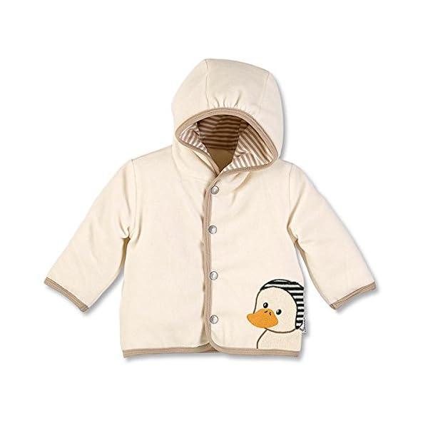 Sterntaler Kapuzen-Jacke Nicki Abrigo, Beige (Ecru 903), 46 (Talla del fabricante: 50) para Bebés 1