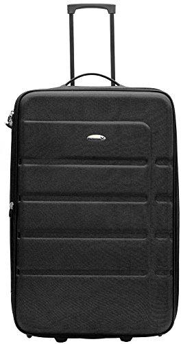 Packenger Easy Traveller Koffer 3er-Set aus Nylon in der Farbe Schwarz. Abmessungen: Größe M (Bordcase), L und XL - 3