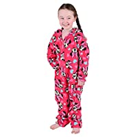 Disney Minnie Mouse Girls Onesie Pyjamas Soft All in One Jump Play Suit Ages 6-7 Pink