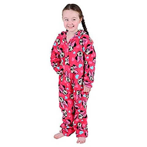 Disney Minnie Mouse Girls Onesie Pyjamas Soft All In One