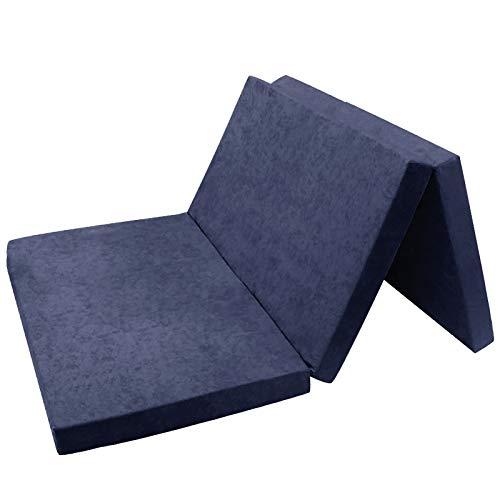 *FORTISLINE Klappmatratze Gästematratze 11. Marineblau XXL – 195x120x9cm W396_11*