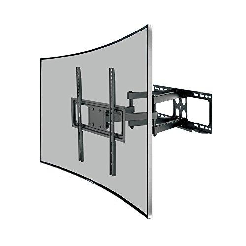 SAVONGA Curved TV Wandhalterung für 32 37 43 50 55 Zoll LED LCD 4K Fernseher wie Samsung schwenkbar neigbar VESA 100x200 200x200 200x400 400x200 bis 400x400 WH-111N