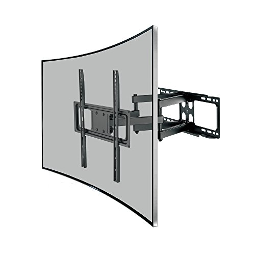 Savonga Curved TV Wandhalterung für 32 40 42 43 49 50 55 Zoll LED LCD 4K Fernseher wie Samsung Telefunken Hisense neigbar VESA 100x200 200x100 200x200 200x400 300x200 300x300 400x200 400x300 400x400