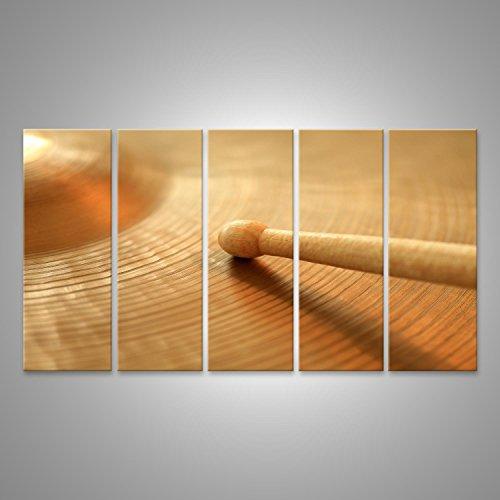 Bild Bilder auf Leinwand Foto von einem Drumstick spielen auf einem Hi-Hat oder Ride-Becken. Konzentriere dich auf die Spitze des Stockes. Verschiedene Formate ! Direkt vom Hersteller ! Bilder ! Wandbild Poster Leinwandbilder ! ECF