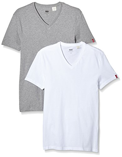 levis-slim-2-pack-v-neck-camiseta-para-hombre-color-marfil-white-mid-mele-talla-m