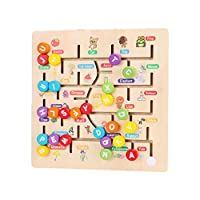 Toyvian Kids Wooden Maze Puzzle Beads Board Game Play Set for Boys Girls Learning Education Toy for Toddlers Preschool Children