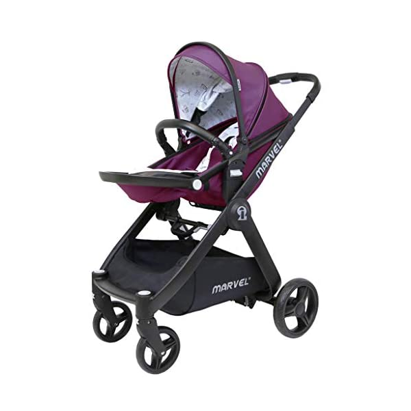 iSafe Marvel 2in1 Pram Travel System and Carseat - Marrone iSafe  4