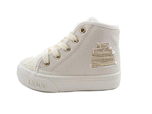 Tienda Online Sneakers avorio con stringhe per bambini Liu Jo Shoes Sitio Oficial Para La Venta Costos En Línea Barata Grandes Ofertas Fu43bw