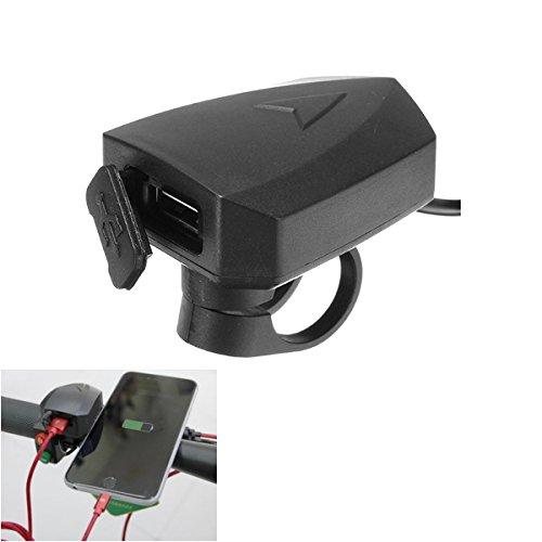 Viviance 36 V-100 V 48 V 5 V 2A Lenker Telefon GPS USB Ladegerät Für E-Roller Fahrradhalterung Clamp -