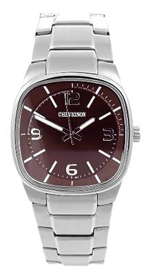 Chevignon 92-0058-503 - Reloj analógico de cuarzo para hombre con correa de acero inoxidable, color plateado de Chevignon