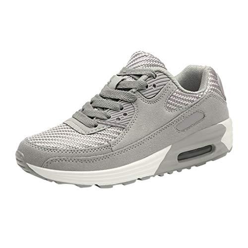 Laufschuhe/Dorical Damen Sportschuhe Casual Sneakers Walking Outdoor Low-Cut Gym Bequem Leichte Atmungsaktiv Freizeitschuhe Rutschfest Net Schuh Turnschuhe 35-40 EU(Grau,38 EU)