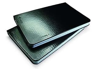 Livescribe Notizbücher 1 und 2, schwarz, blanko, für Pulse Smartpen
