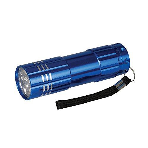 Silverline 226491 Aluminium-LED-Taschenlampe 9 LEDs