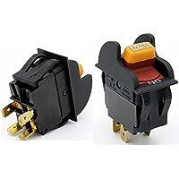 HY7 - Interruptores eléctricos industriales a prueba de polvo para electrodomésticos (2 unidades, 20 A/12 A, 125 V/250 VAC, 4 pines)