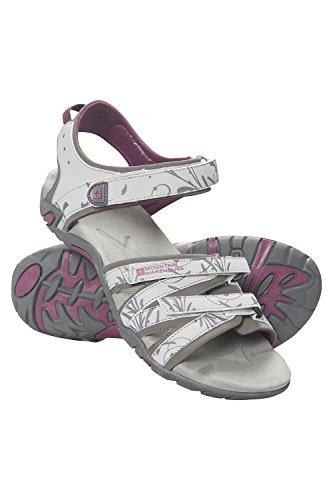 Walking Sandalen (Mountain Warehouse Santorini Damen-Sandalen - Damenschuhe mit verstellbaren Riemen und gepolsterter Innensohle, Gummi-Laufsohle - für Sommer-Spaziergänge, Reisen, Urlaub Hellgrau 37 EU)