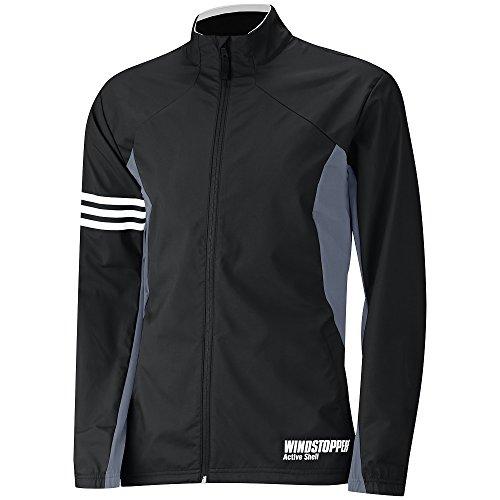 Adidas Windstopper Golf-Jacke, Herren M Schwarz (Golf Zip Jacke)