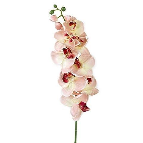 ULTNICE Simulation Schmetterling Orchidee künstliche Blume Pflanze Home Dekoration (rosa)