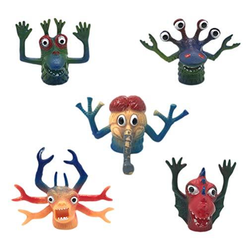 Toyvian Monster Fingerpuppen Tierfinger Set Requisiten Interaktive Spielzeug Requisiten 5 Stück