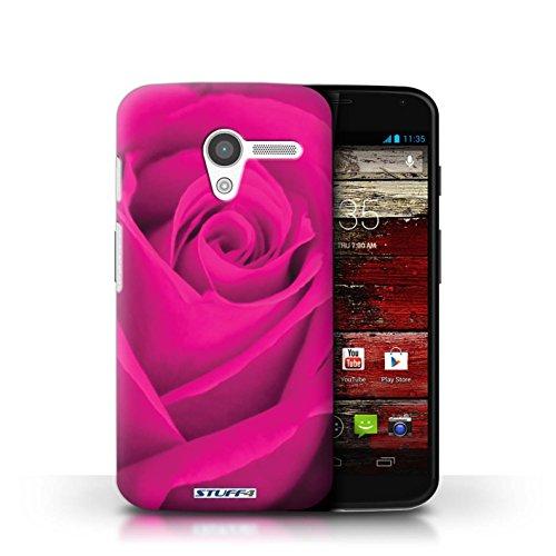 Kobalt® Imprimé Etui / Coque pour Motorola MOTO X / Jaune conception / Série Rose Rose