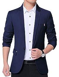 d994814163a Veste De Costume Casual Elegant Slim Fit Blazer Un Bouton Jacket Homme