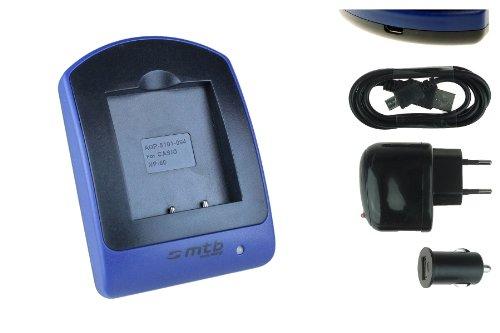 Akku + Ladegerät (Netz+Kfz+USB) NP-60 für Casio Exilim EX-FS10 S10 S12 Z9 Z19 Z22 Z25...siehe Liste